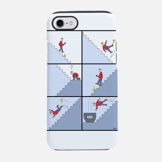 Guy falling down steps iPhone 7 Tough Case