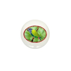 Stained Glass Pionus Parrot Mini Button (10 pack)