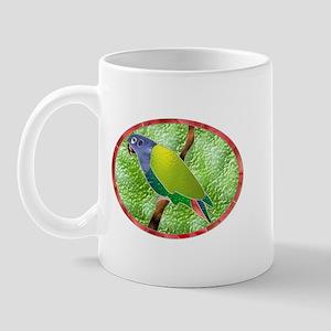 Stained Glass Pionus Parrot Mug