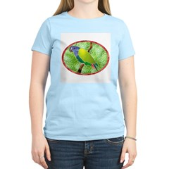 Stained Glass Pionus Parrot Women's Pink T-Shirt