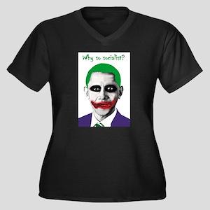 Obama - Why So Socialist? Women's Plus Size V-Neck