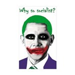 Obama - Why So Socialist? Rectangle Sticker 50 pk