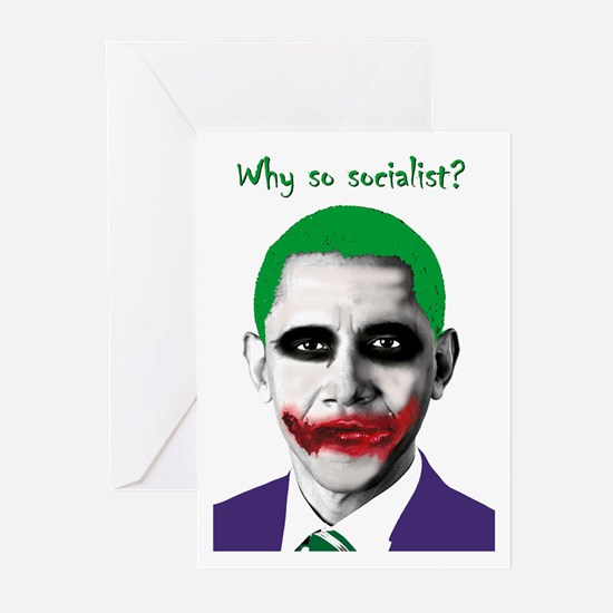 Obama - Why So Socialist? Greeting Cards (Pk of 10