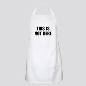 This is Not Here Lennon BBQ Apron