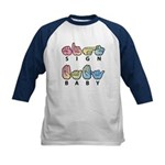 Captioned SIGN BABY Kids Baseball Jersey