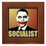 Socialist Joker Framed Tile