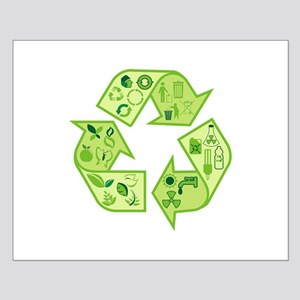 Go Green Tree Recycle Small Poster