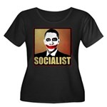 Socialist Joker Women's Plus Size Scoop Neck Dark