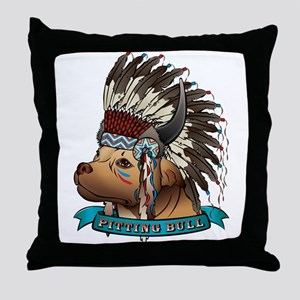 Pitting Bull Throw Pillow