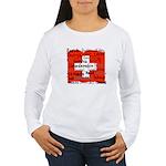 Swiss Cantons Flag Women's Long Sleeve T-Shirt