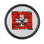 Swiss Cantons Flag Large Wall Clock