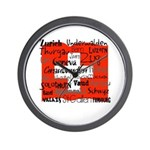 Swiss Cantons Flag Wall Clock