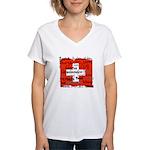 Swiss Cantons Flag Women's V-Neck T-Shirt