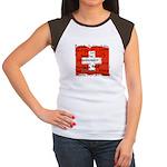 Swiss Cantons Flag Women's Cap Sleeve T-Shirt