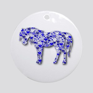 My Heart Horse Ornament (Round)