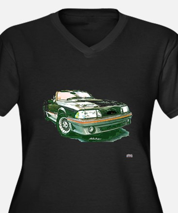 Mustang 87-93 RWB5spd Women's Plus Size V-Neck Dar