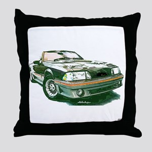 Mustang 87-93 RWB5spd Throw Pillow