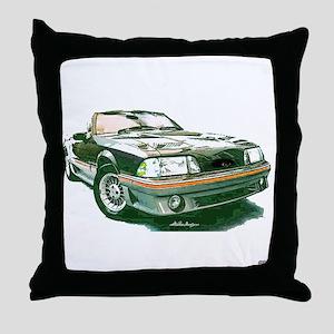 Mustang 87-93 RWB5spd Throw Pillow