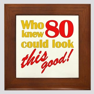 Funny 80th Birthday Gag Gifts Framed Tile