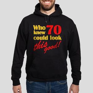Funny 70th Birthday Gag Gifts Hoodie (dark)