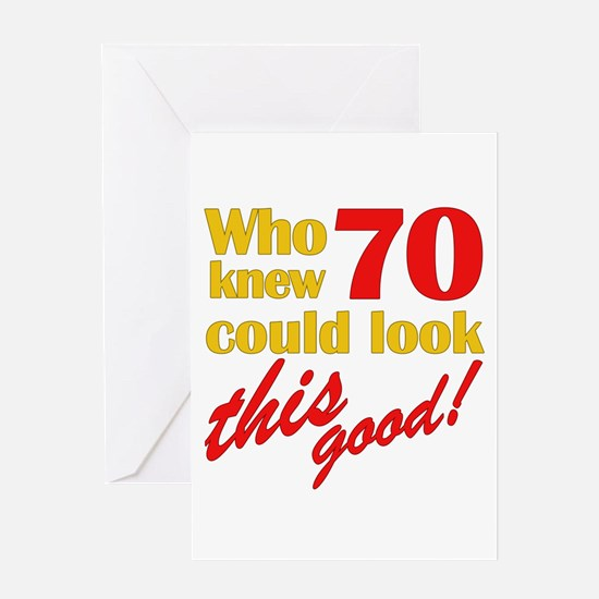 Funny 70th Birthday Gag Gifts Greeting Card