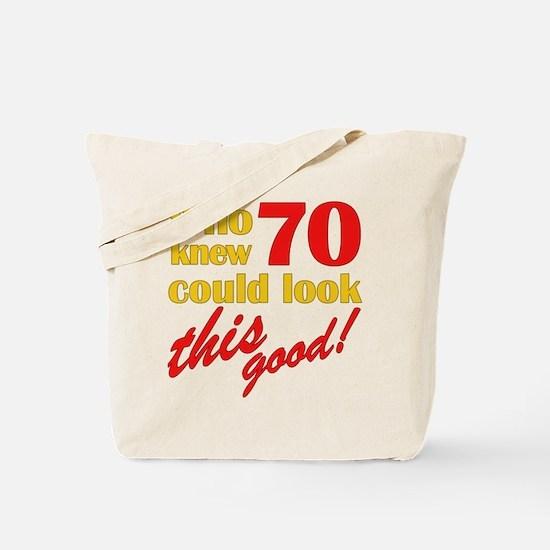 Funny 70th Birthday Gag Gifts Tote Bag