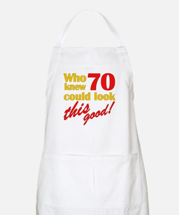Funny 70th Birthday Gag Gifts BBQ Apron