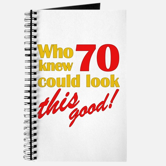 Funny 70th Birthday Gag Gifts Journal
