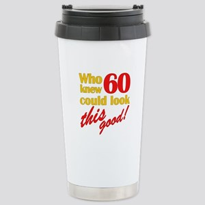 Funny 60th Birthday Gag Gifts Stainless Steel Trav