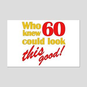 Funny 60th Birthday Gag Gifts Mini Poster Print