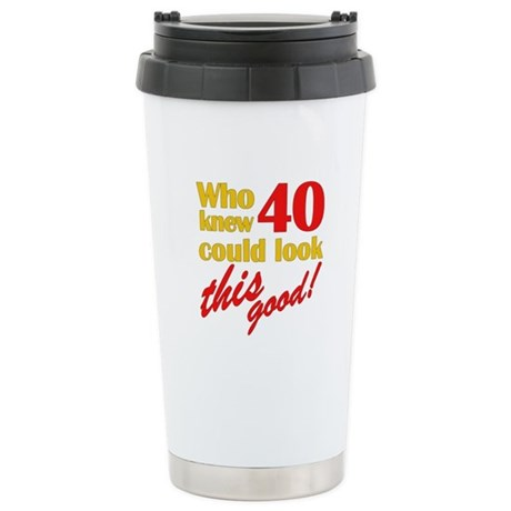 Funny 40th Birthday Gag Gifts Stainless Steel Trav