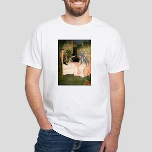 Blue Fairy Visit White T-Shirt