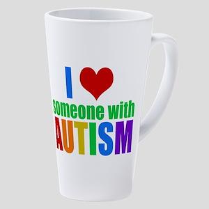 Autism Love 17 Oz Latte Mug