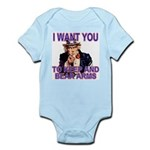 Uncle Sam Keep And Bear Arms Infant Creeper