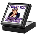 Uncle Sam Keep And Bear Arms Keepsake Box