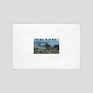 city of rio in brazil 4' x 6' Rug