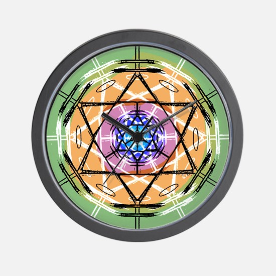 Disc Basket Circle Star Wall Clock