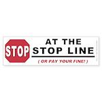 Stop LIne (Bumper Sticker 10 pk)