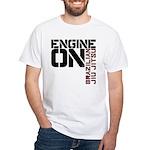 Engine On Jiu Jitsu White T-Shirt