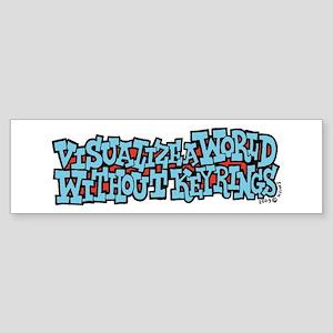 Visualize a World Without Key Bumper Sticker