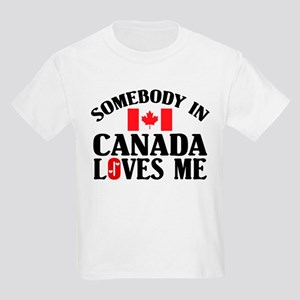 Somebody In Canada Kids T-Shirt