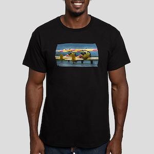 2 Stearman Men's Fitted T-Shirt (dark)