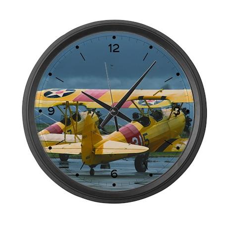 2 Stearman Large Wall Clock