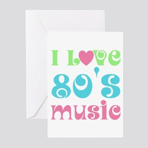 I Love 80's Music Greeting Cards (Pk of 10)