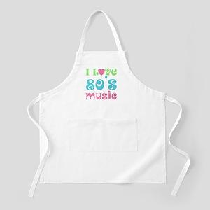 I Love 80's Music BBQ Apron