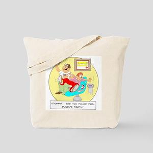... Mrs. Bundy's teeth. Tote Bag