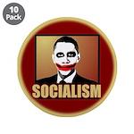 """Socialism Joker 3.5"""" Button (10 pack)"""