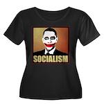 Socialism Joker Women's Plus Size Scoop Neck Dark