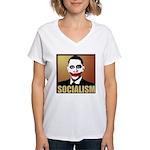 Socialism Joker Women's V-Neck T-Shirt