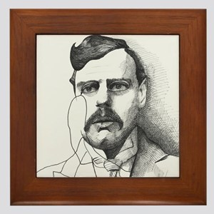 G.K. Chesterton Framed Tile